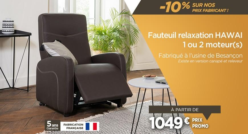 Soldes - Fauteuil relax à -10% sur des prix fabricanr : profitez-en !
