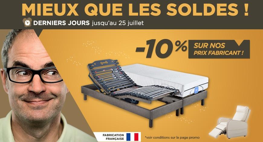 Soldes Lit électriques : -10% de réduction sur des prix fabricant